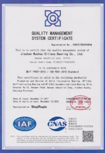 bushingmfg-ISO9001-2015 certificate